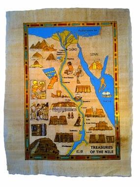 Landkarte Von Agypten Agyptischer Papyrus