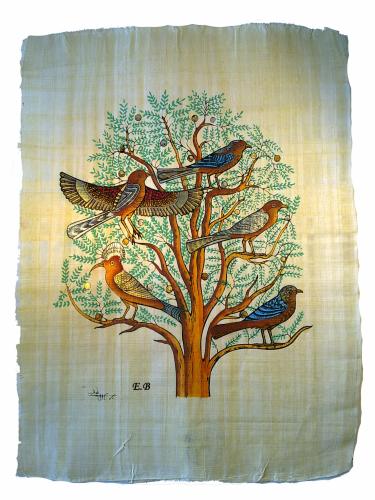 papyrus gyptischer lebensbaum gyptischer bazar der. Black Bedroom Furniture Sets. Home Design Ideas